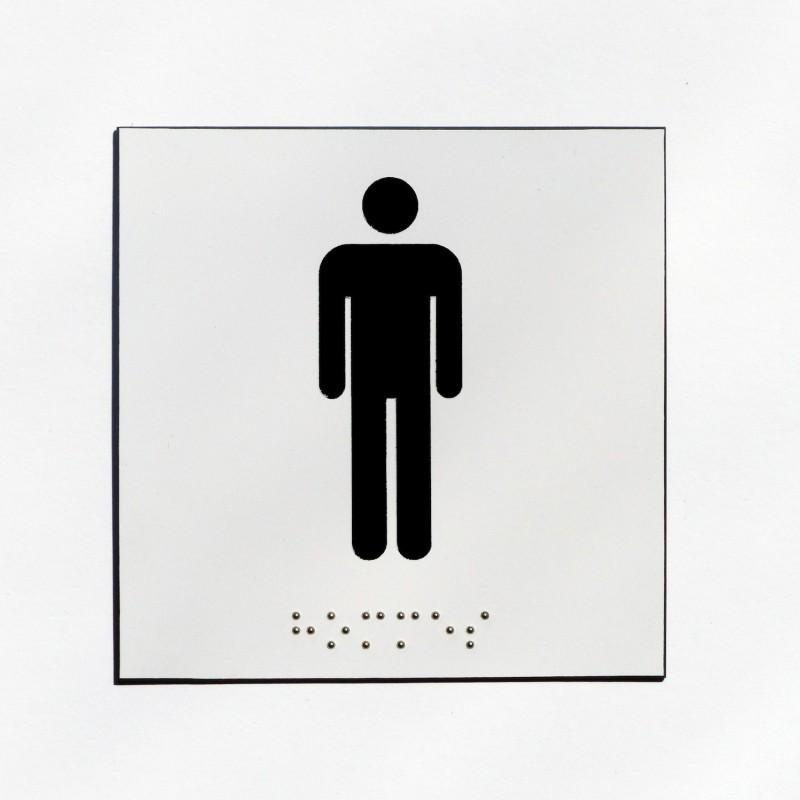 wc pour hommes fond blanc pictogramme noir