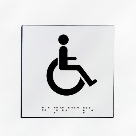 wc pour handicap s fond blanc pictogramme noir. Black Bedroom Furniture Sets. Home Design Ideas