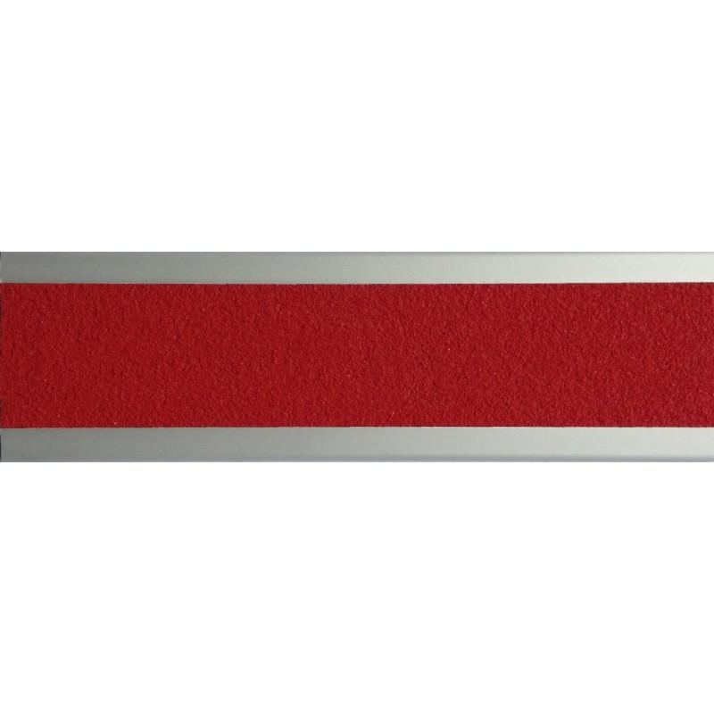 nez de marche plat en aluminium 45 mm avec bande antid rapante rouge. Black Bedroom Furniture Sets. Home Design Ideas