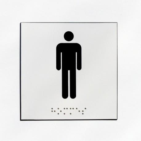 WC homme fond blanc pictogramme noir