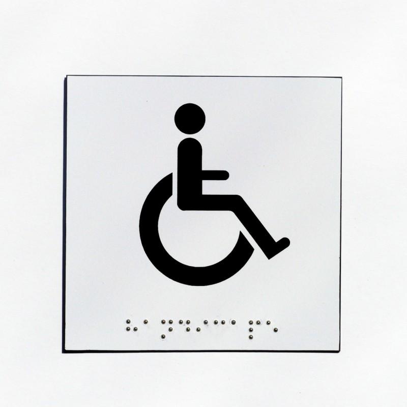 wc pour handicap u00e9s fond blanc pictogramme noir