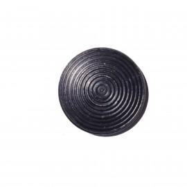 Plot podotactile 25 mm en acier zingué noir