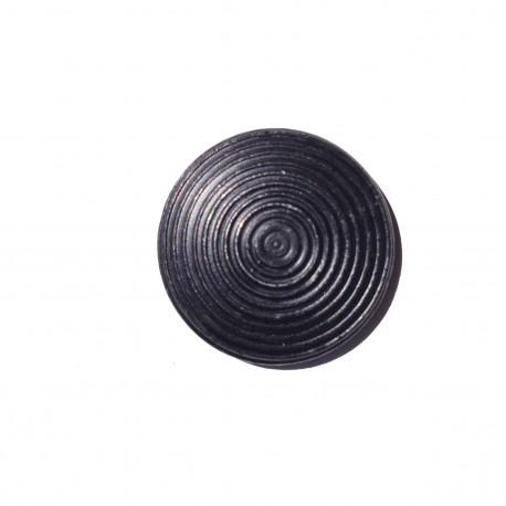 Plot podotactile 25 mm acier zingué noir