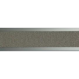 Nez de marche plat en aluminium 45 mm avec bande antidérapante gris clair
