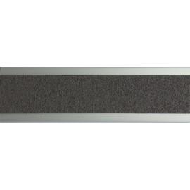 Nez de marche plat en aluminium 45 mm avec bande antidérapante gris foncé