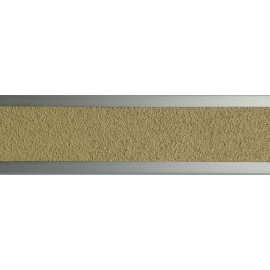 Nez de marche plat en aluminium 45 mm avec bande antidérapante beige