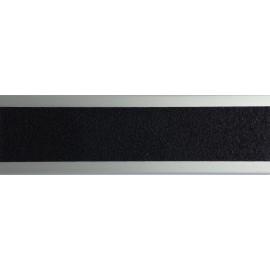 Nez de marche plat en aluminium 45 mm avec bande antidérapante noir
