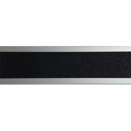 Profil nez de marche aluminium anodisé plat 45 mm