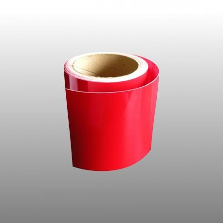Bande adhésive en PVC teinté pour contremarche 100 mm - 10 ml - rouge