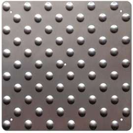 Dalle podotactile inox 450 mm