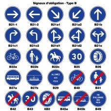 Signaux d'obligation - Type B
