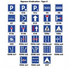 Panneaux d'indication 1 - Type C