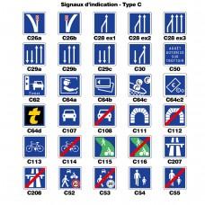 Panneaux d'indication 2 - Type C