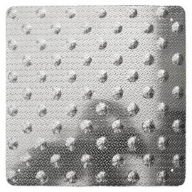 Dalle podotactile aluminium larmé 450 mm