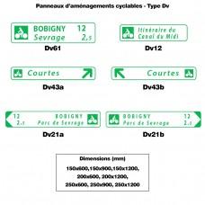 Panneaux des aménagements cyclables 2