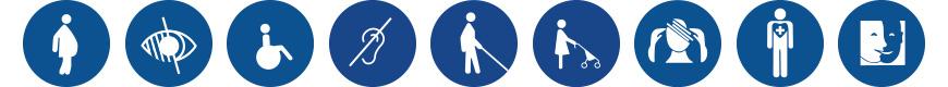 Personnes à mobilité réduite iconographie.