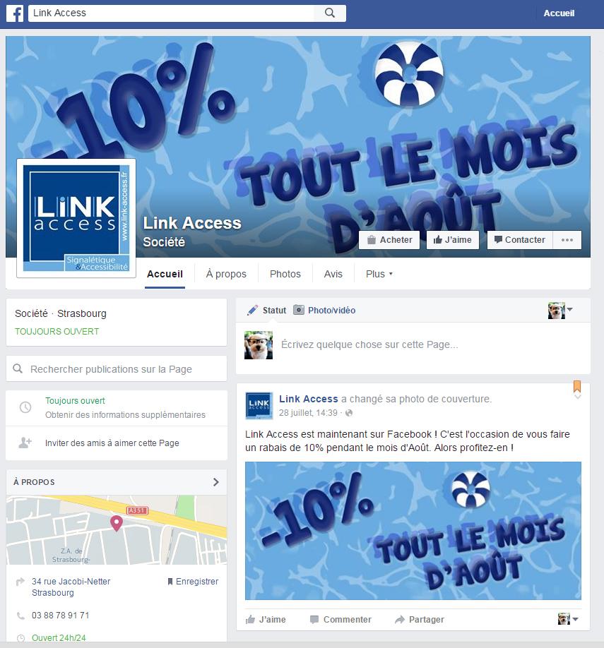 Notre page facebook est en ligne